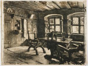 Durer's Room in Nuremberg, 1896 by Leon Augustin Lhermitte