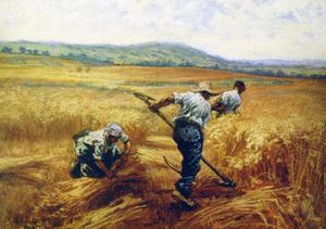 Reapers, 1910 by Leon-Augustin Lhermitte