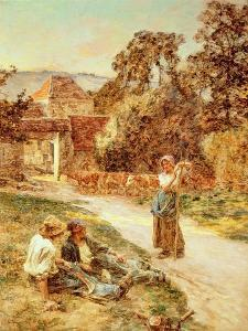 Sundown, Return of the Cattle, 1897 by Leon Augustin Lhermitte