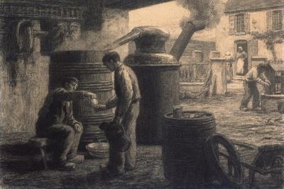 The Distillery; Les Degustateurs D'Eau-De-Vie-De Marc Ou L'Alambic, C.1872