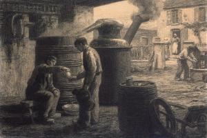 The Distillery; Les Degustateurs D'Eau-De-Vie-De Marc Ou L'Alambic, C.1872 by Leon Augustin Lhermitte