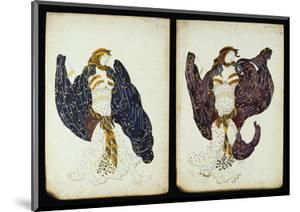 A Pair of Costume Designs for 'Juive' Depicting Female Dancers by Leon Bakst