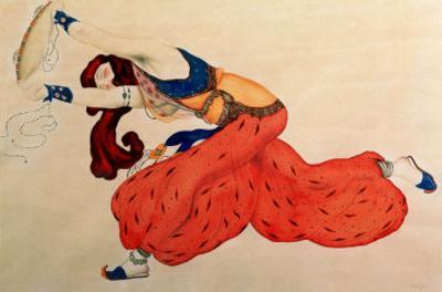 A Study for a Figure of a Dancer for Scheherazade by Leon Bakst