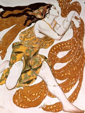 Bacchante, Costume Design for a Ballets Russes Production of Tcherepnin's Narcisse, 1911