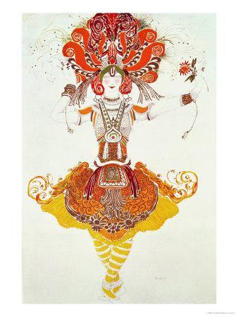 """Ballet Costume for """"The Firebird,"""" by Stravinsky"""