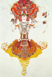 """Ballet Costume for """"The Firebird,"""" by Stravinsky by Leon Bakst"""