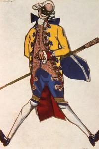 Battista, Costume Design for a Comedy by Carol Goldoni, 1917 by Leon Bakst