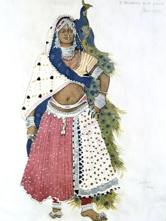 Bayadere with Peacock, Ballet Costume Design, 1911 by Leon Bakst