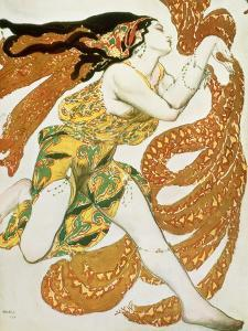 "Costume Design for a Bacchante in ""Narcisse"" by Tcherepnin, 1911 by Leon Bakst"