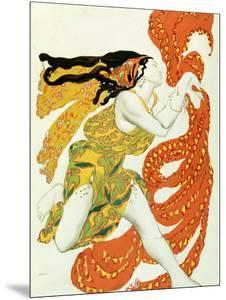 """Costume Design for a Bacchante in """"Narcisse"""" by Tcherepnin, 1911 by Leon Bakst"""