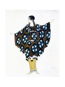 Costume Design for a Ballets Russes Production of Ravel's Daphnis Et Chloe, 1912 by Leon Bakst