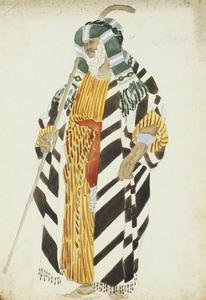 Costume Design for a Dancer from 'Suite Arabe' by Leon Bakst