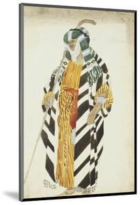 Costume Design for a Dancer in Suite Arabe by Leon Bakst