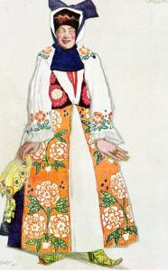 Costume Design for a Peasant Woman, from Sadko, 1917 by Leon Bakst