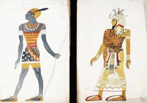 Costume Design for 'Ammoun', Depicting a Nubian Male Dancer by Leon Bakst
