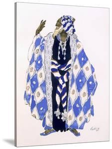 Costume Design for an Old Man for 'The Martyrdom of St. Sebastian' by Gabriele D'Annunzio by Leon Bakst