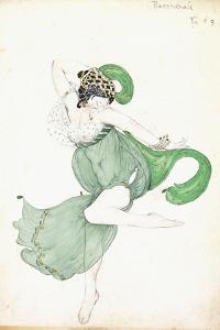 Costume Design for 'Bacchanale', Soloist Ballerina by Leon Bakst