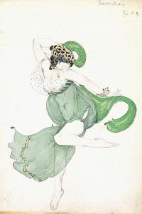 Costume Design for 'Bacchanale', Soloist Ballerina by Leon Bakst