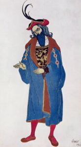 Costume Design for Blue-Beard, from Sleeping Beauty, 1921 by Leon Bakst