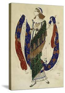 Costume Design for Cleopatra - a Dancer by Leon Bakst
