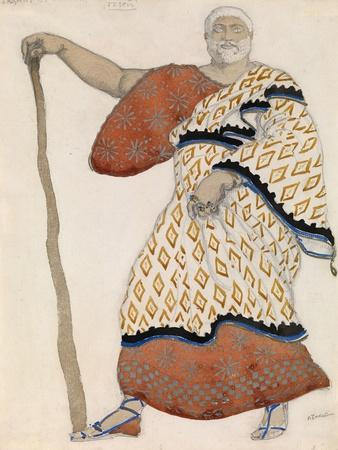 Costume Design for Drama Oedipus at Colonus by Sophocles, 1904
