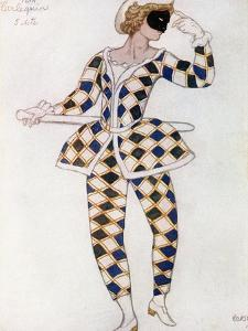 Costume Design for Harlequin, from Sleeping Beauty, 1921 by Leon Bakst