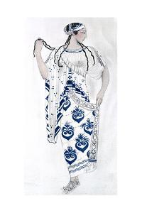 Costume Design for Ida Rubinstein as Helen in the Ballet Helen of Sparta, 1912 by Leon Bakst