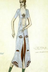 Costume Design for Ida Rubinstein as Ishtar, 1924 by Leon Bakst