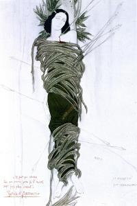 Costume Design for Italian Writer Gabriele D'Annunzio's Drama the Martyrdom of St Sebastian, 1911 by Leon Bakst