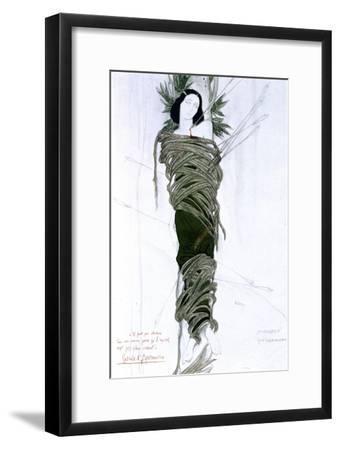Costume Design for Italian Writer Gabriele D'Annunzio's Drama the Martyrdom of St Sebastian, 1911