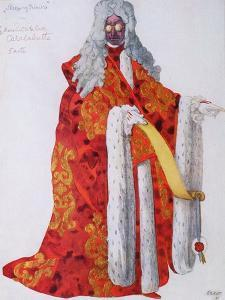 Costume Design For Marshal Cantalabutte, from Sleeping Beauty, 1921 by Leon Bakst