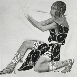 Costume design for Narcisse by Leon Bakst