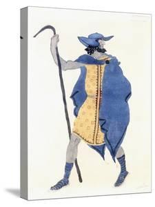 Costume Design for Oedipus at Colonnus- the Stranger by Leon Bakst