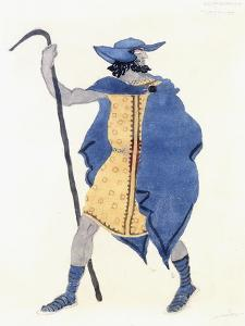 Costume Design for Oedipus at Colonnus- the Stranger by Leon Bakst