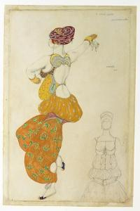 Costume Design for One of the Three Odalisques for 'Scheherazade', 1910 by Leon Bakst