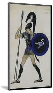 Costume Design for Phaedre; Hippolitus by Leon Bakst