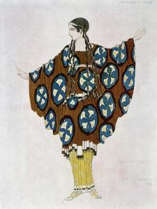 Costume Design for Ravel, from Daphnis and Chloe, C.1912 by Leon Bakst