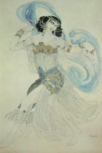 """Costume Design for Salome in """"Dance of the Seven Veils,"""" 1908 by Leon Bakst"""