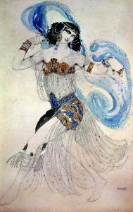 "Costume Design for Salome in ""Dance of the Seven Veils,"" 1908 by Leon Bakst"