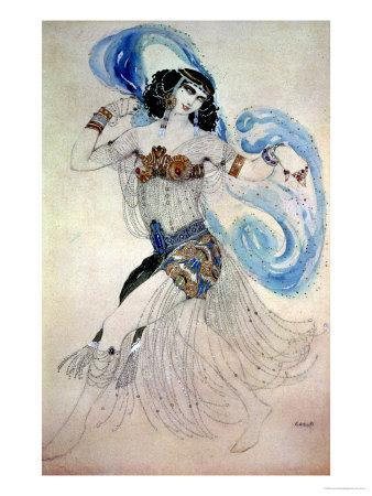 "Costume Design for Salome in ""Dance of the Seven Veils,"" 1908"