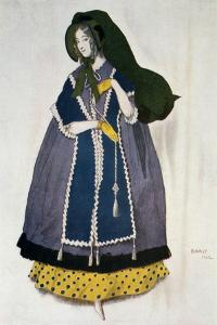 Costume Design for the Ballet Les Papillons, 1912 by Leon Bakst