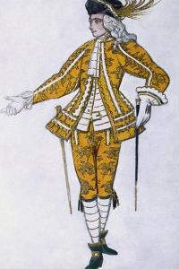 Costume Design for the Fairy Canary's Pageboy, from Sleeping Beauty, 1921 by Leon Bakst