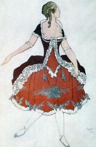 Costume Design for the Princess Aurora, from Sleeping Beauty, 1921 by Leon Bakst