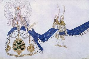 Costume Design for the Queen and Her Pages, from Sleeping Beauty, 1921 by Leon Bakst