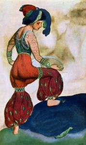 Costume Design For the Red Sultan, from Sheherazad by Leon Bakst