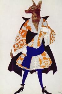 Costume Design For the Wolf, from Sleeping Beauty, 1921 by Leon Bakst