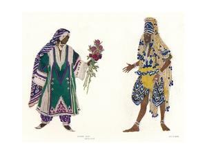 Costume Designs for the Russian Ballet Le Dieu Bleu, C1912 by Leon Bakst
