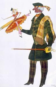 Costume for the Englishman, from La Boutique Fantastique, 1917 (Colour Litho) by Leon Bakst