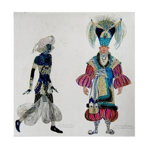 Costumes for a Negro Boy in 'Scheherazade' and Barbizon in 'Aladdin's Lamp' by Leon Bakst