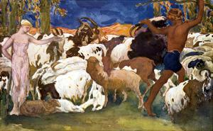 Daphnis and Chloe by Leon Bakst